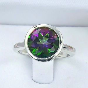 Jewelry - 925 Silver Plated Mystic Topaz Ring
